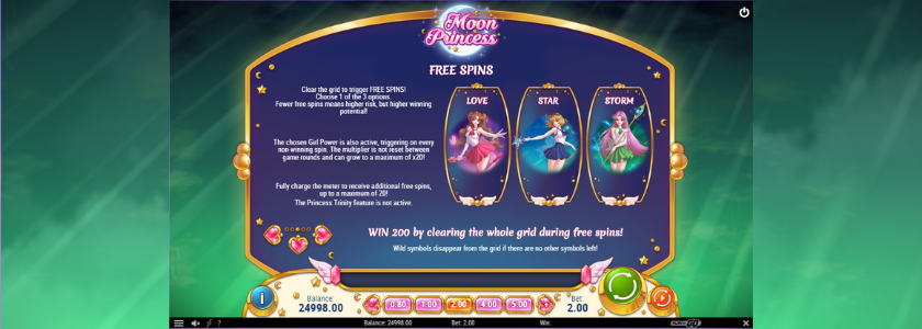 Moon Princess - Free Spins Feature